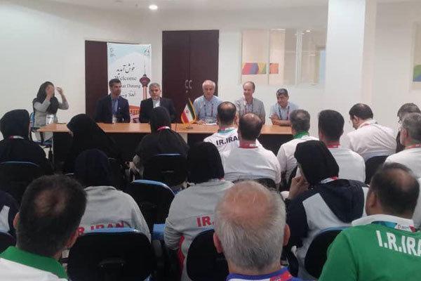 دیدار رئیس کمیته ملی المپیک با کادر سرپرستی کاروان ورزش ایران