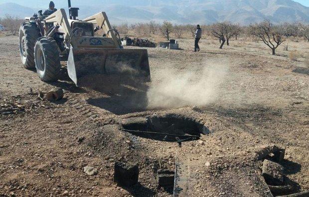 سال جاری 180 حلقه چاه غیرمجاز در همدان مسدود شد
