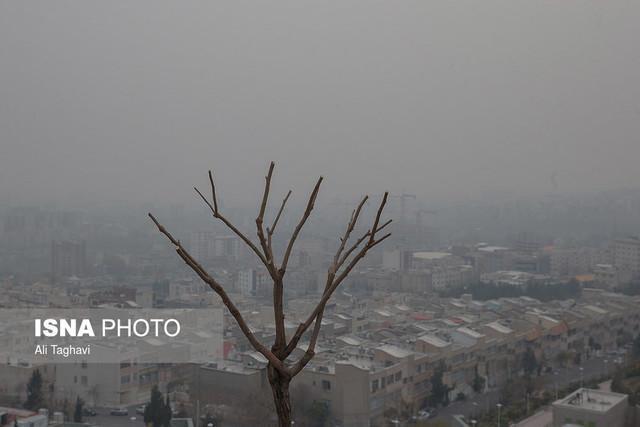 افزایش غلظت آلاینده ها در هوای تهران