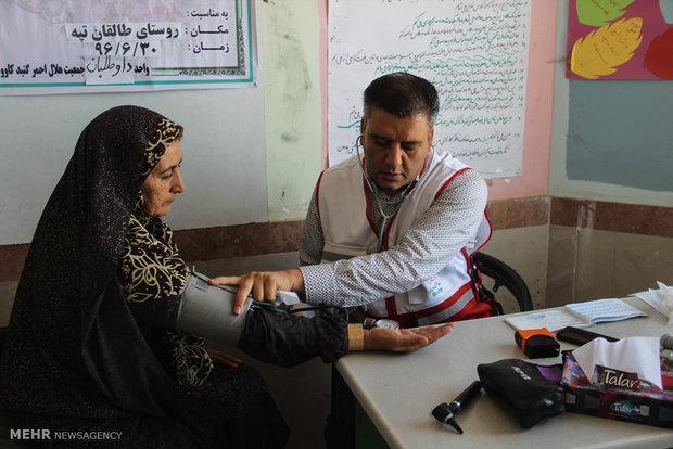 تیم های درمان اضطراری در روستاهای شهرستان دشتی حضور می یابند