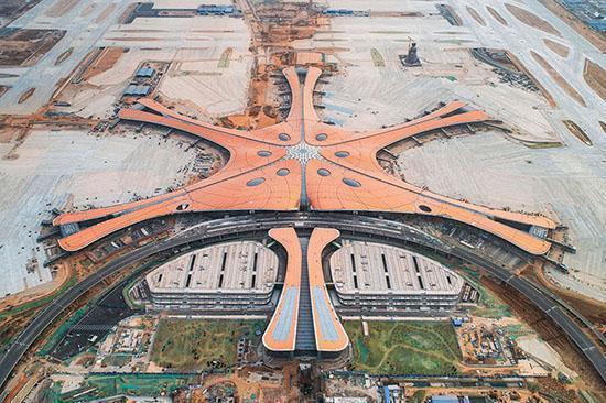 تصاویر دیدنی از ساخت بزرگ ترین ترمینال هواپیمایی دنیا