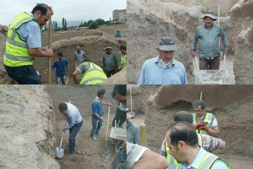 خاک برداری اتاق های کهنه قالا در مشگین شهر انجام شد