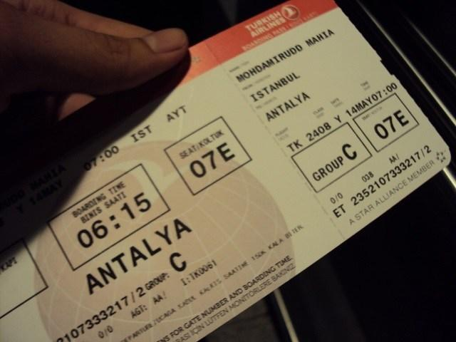 بلیط هواپیما آنتالیا