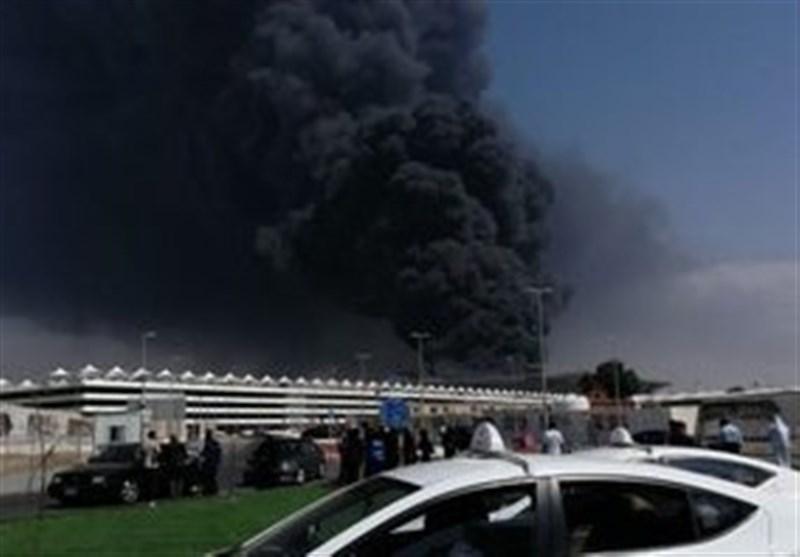 آتش سوزی گسترده در ایستگاه قطار جده