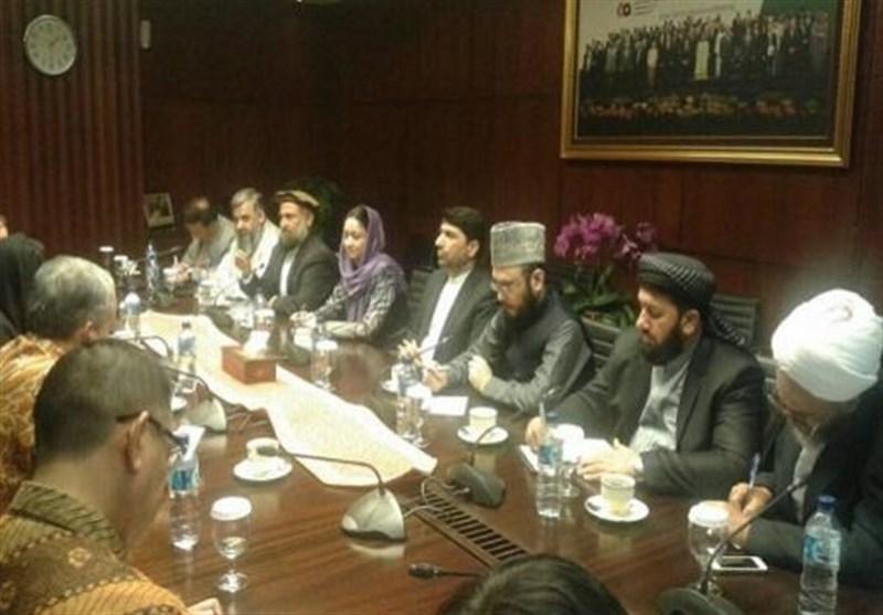 سفر هیئت مشترک شورای صلح و عالمان دینی افغانستان به اندونزی
