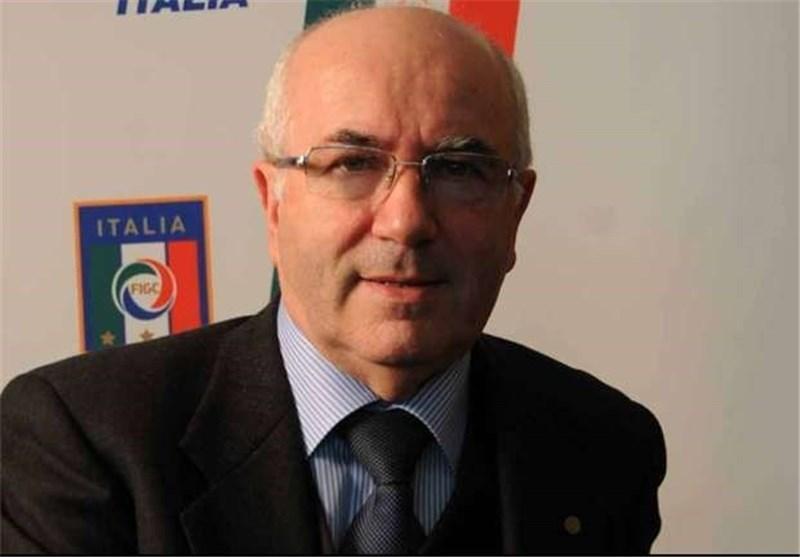 رئیس فدراسیون فوتبال ایتالیا وارد تهران شد