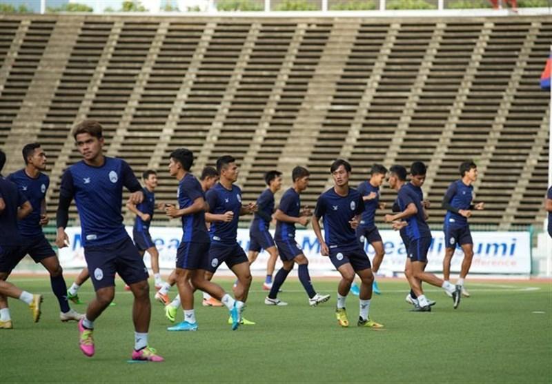 گزارش تمرین تیم ملی کامبوج، توجه ویژه به هوندا و تذکر نماینده فیفا