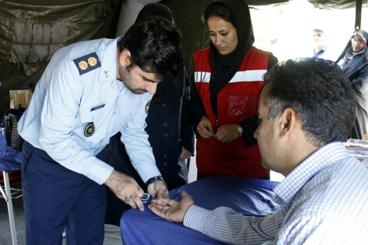 خدمات پزشکی تیم پزشکی نیروی هوایی ارتش به زائران