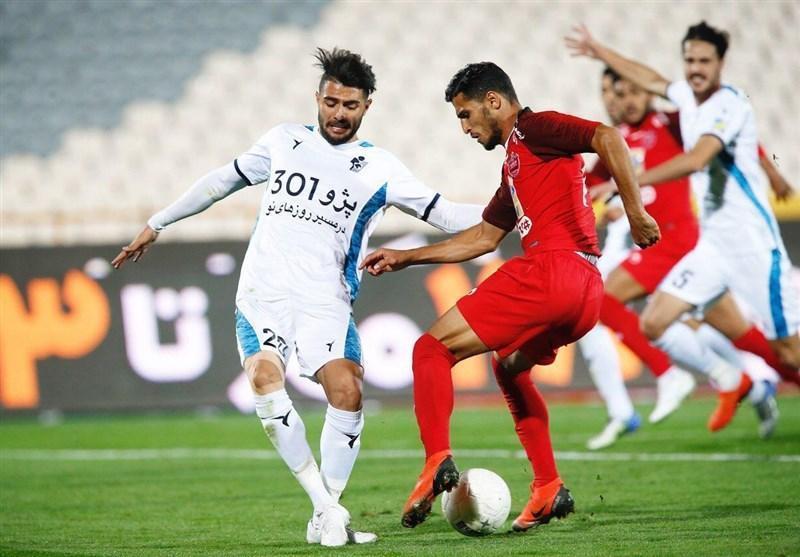 لیگ برتر فوتبال، تساوی یک نیمه ای پرسپولیس و پیکان