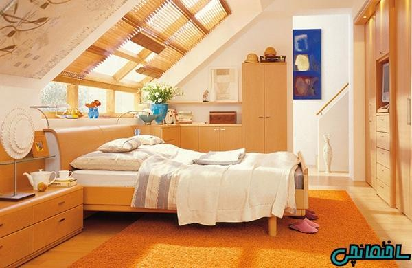 ایده های طراحی اتاق خواب زیرشیروانی