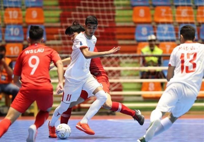 پیروزی پُرگل تیم فوتسال زیر 20سال ایران مقابل بزرگسالان مالزی