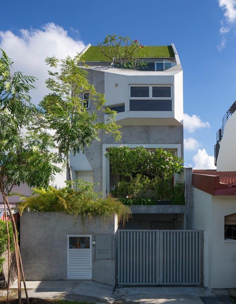 طراحی خانه باغی کوچک در سنگاپور