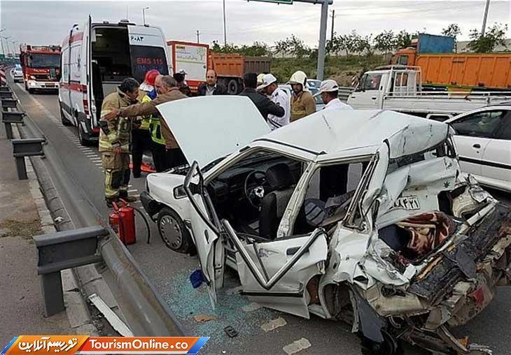 کاهش 16.7 درصدی تلفات سوانح رانندگی در 4 ماه نخست امسال، مرگ 4859 نفر در تصادفات