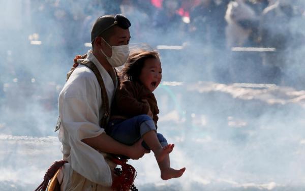 راه رفتن روی ذغال داغ، مراسم دینی در ژاپن