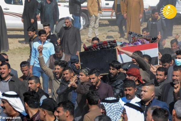 (تصاویر) تشییع 7 عضو خانواده کشته شده به دست داعش